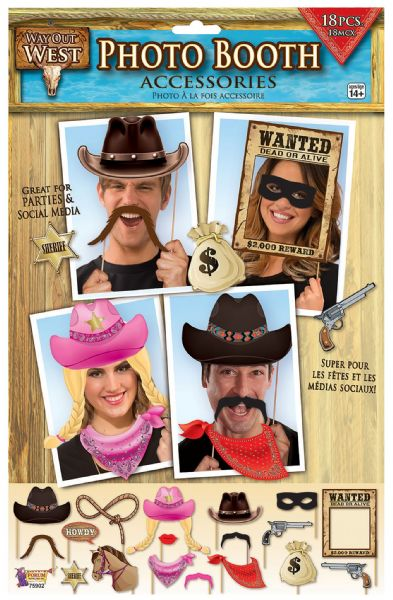 Way Out West- Photo Booth Photobooth Cowboy Party Decoration WesternDecorations